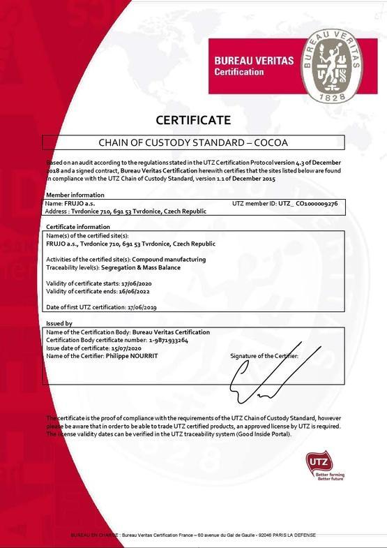 UTZ certificate